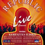 Republic - afiș concert Radio GAGA